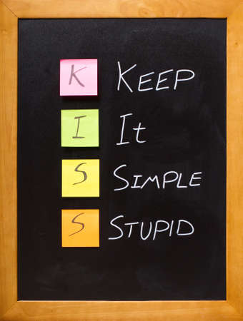 achieves: KISS message simply displayed on a blackboard