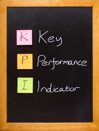 Simple business message on a blackboard, KPI photo