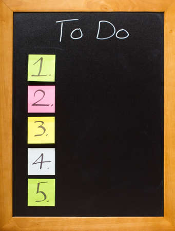 List of numbers on a chalk blackboard, with copyspace, just add a chalk font