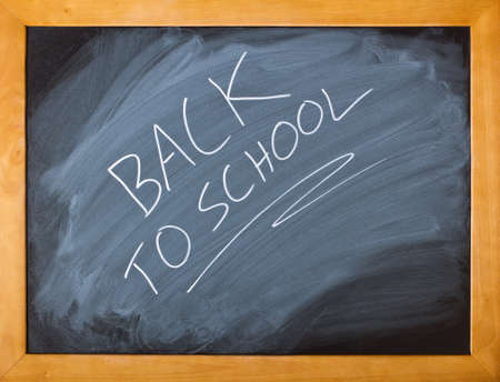 Blackboard showing a fun back to school message photo