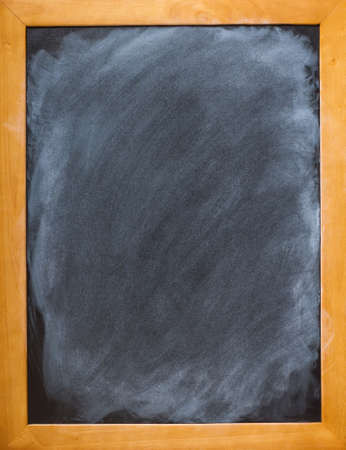 Freshly cleaned blackboard ready for your message