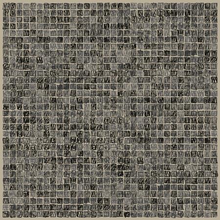 scribbling: Scibbles pixels black background Illustration