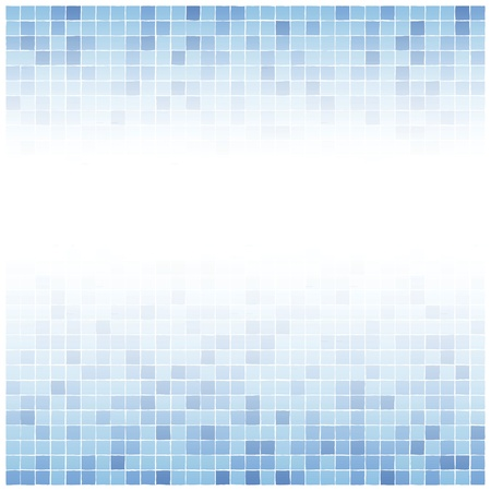 Background of little irreguler blue tiles with white center fade Vector