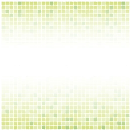Background of little irreguler green tiles with white center fade Vector