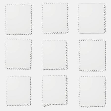 irregular: Blank irregular stamps frames