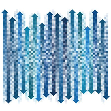 indexed: Gradient pixel arrows collection  Illustration