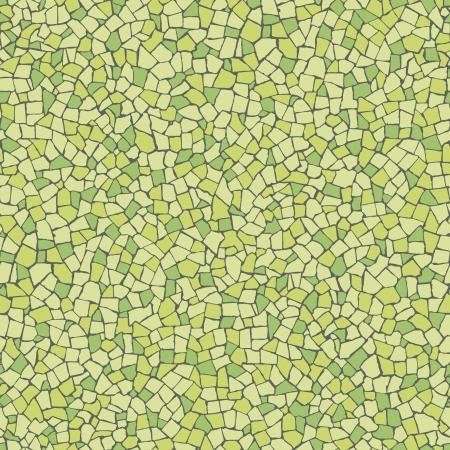 modernism: Broken tiles  trencadis  green pattern Illustration