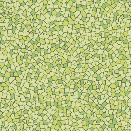 Broken tiles  trencadis  green pattern Vettoriali