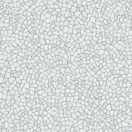 mosaic floor: Broken tiles  trencadis  white pattern Illustration