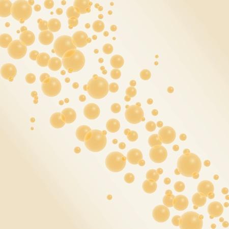 bollicine champagne: Champagne bolle sfondo dorato Vettoriali