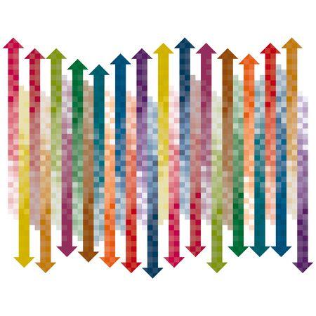 indexed: Pixel gradient arrows collection