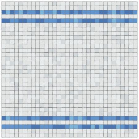 охватывающей: Маленькие синие и лозы плитки Облицовка стен границу Иллюстрация