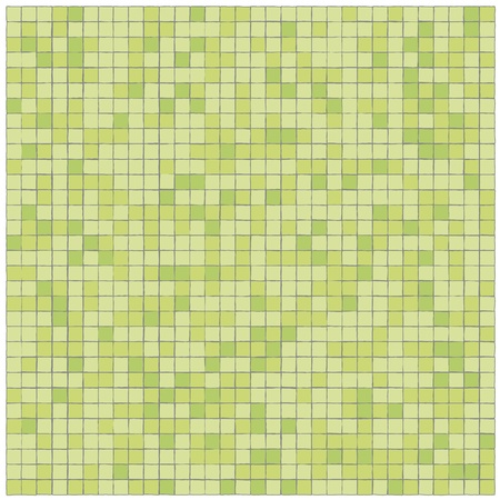 sectional: Green tiles wall covering