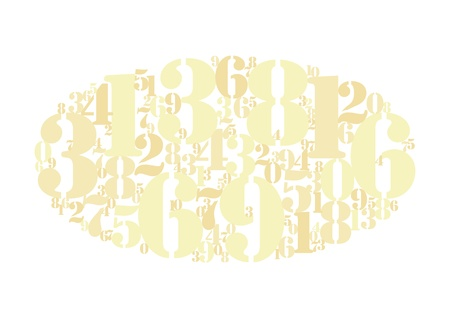 elliptic: Gold numbers cloud background Illustration