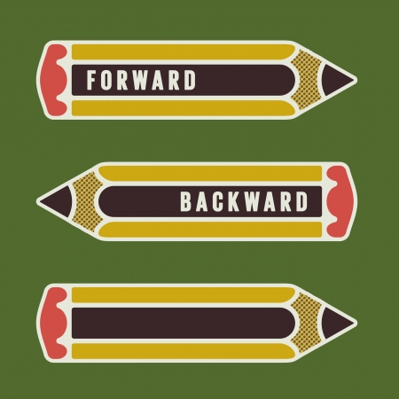 back and forth: pencil as arrow or pointer