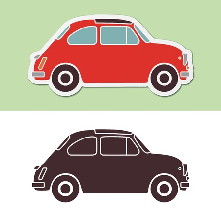 Old fashion italian car