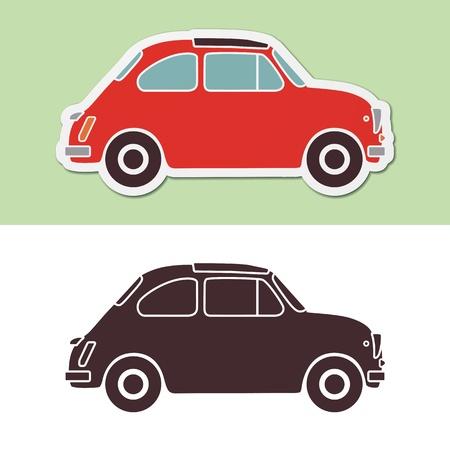 contoured: Old moda italiano de coches