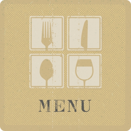 silkscreen print of menu cover Vector