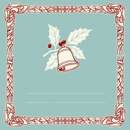 vintage typographic christmas bell, Stock Vector - 21943400