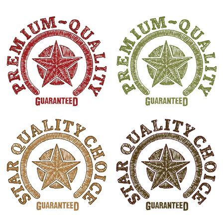 scribbling: Star quality seals drawn by hand