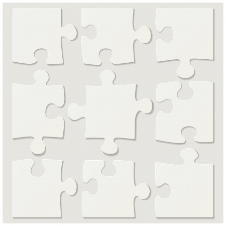 completed: blank puzzle tiles Illustration