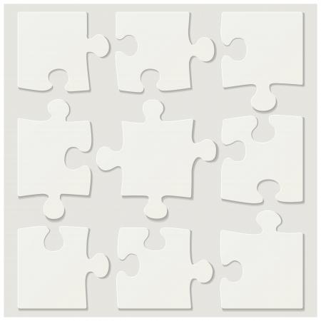 Piezas del rompecabezas en blanco Foto de archivo - 22186775