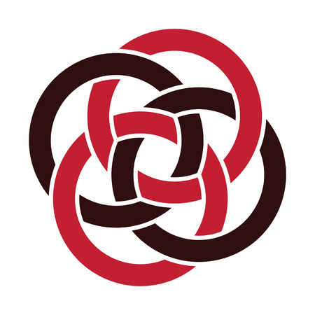 interlace: abstract interlace motif