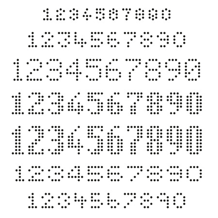 hole puncher: Assorted dotted numbers set