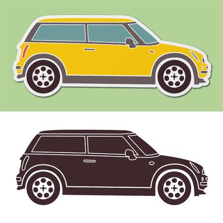 fashion mini smart car Stock Illustratie