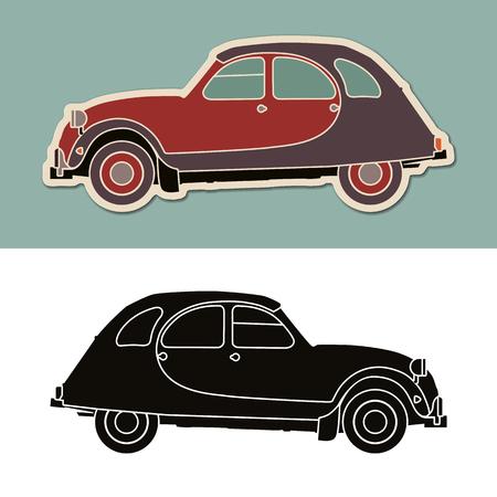 빈티지 전형적인 프랑스 자동차