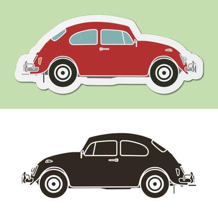 famous: 著名老式經典的德國車 向量圖像