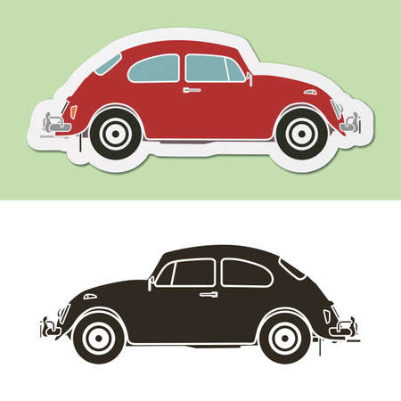 Famous vintage classic german car  Vector