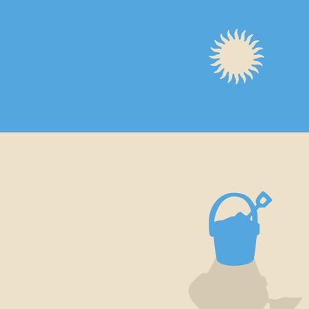 sand beach: Minimal sand beach landscape
