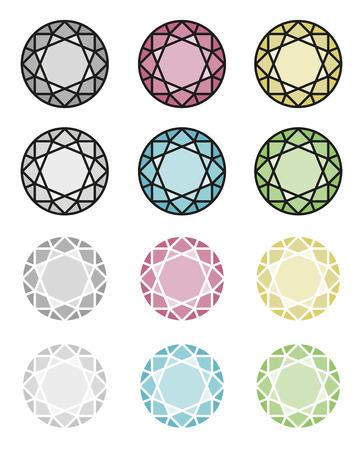 axial: Gemetric pattern of gem brilliant cut