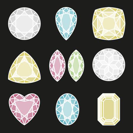 axial: Gemetric pattern of gems cut