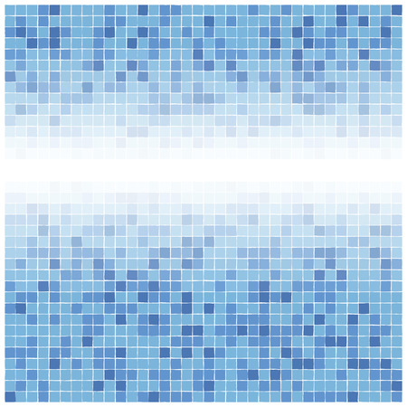 Blue tiles gradient background Vector