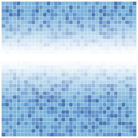 bathroom tile: Blue tiles gradient background Illustration