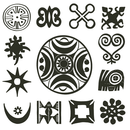African traditional motifs collection Vector