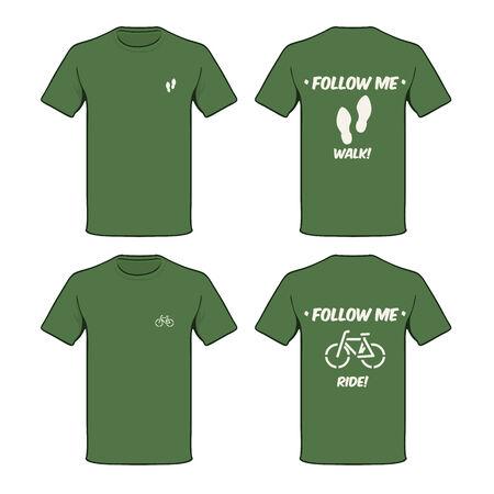 shirt template: Green suggestion T-shirt   Illustration