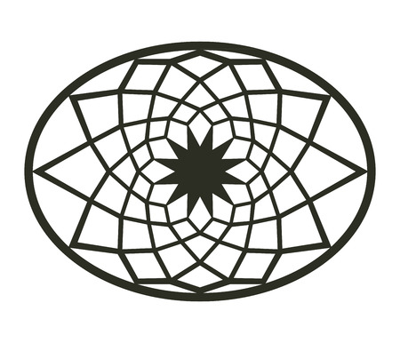 axial: Geometric design of Capitol floor decor Illustration