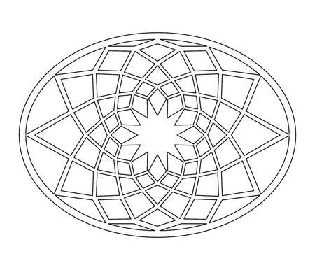 capitol: Geometric design of Capitol floor decor Illustration