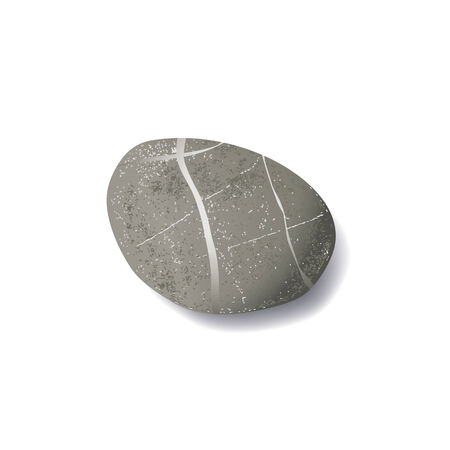 Pebble Beach: vector realistic striped pebble