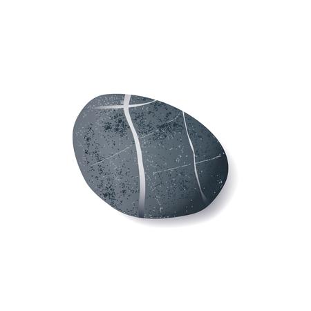pebble: vector realistic striped pebble