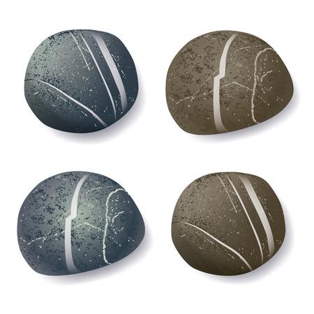 vector realistic striped pebble