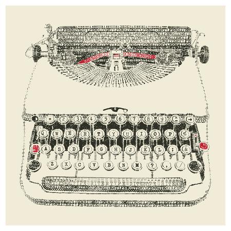 maquina de escribir: M�quina de escribir en el arte de escribir Vectores