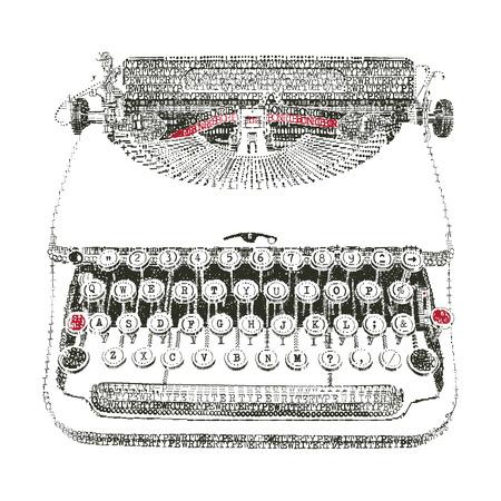 typewriter: Typewriter in typewriter art Illustration
