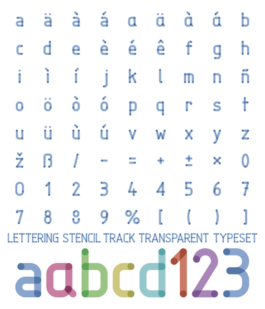 din: lettering stencil track transparent typeset one color aesy to change