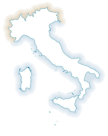 didactic: Map of Italy silhouette