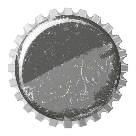 scratchy: vector realistic scratchy black bottle cap