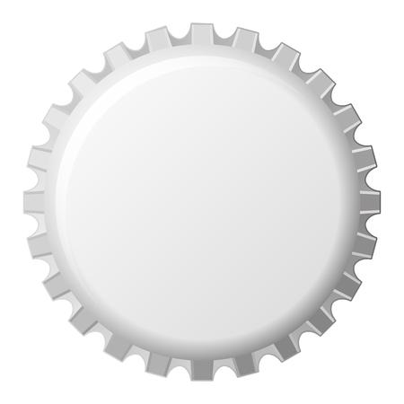 vector realistic crown cap template